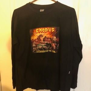 "Exodus ""Deliver us to Evil"" Long Sleeve Shirt-RARE"
